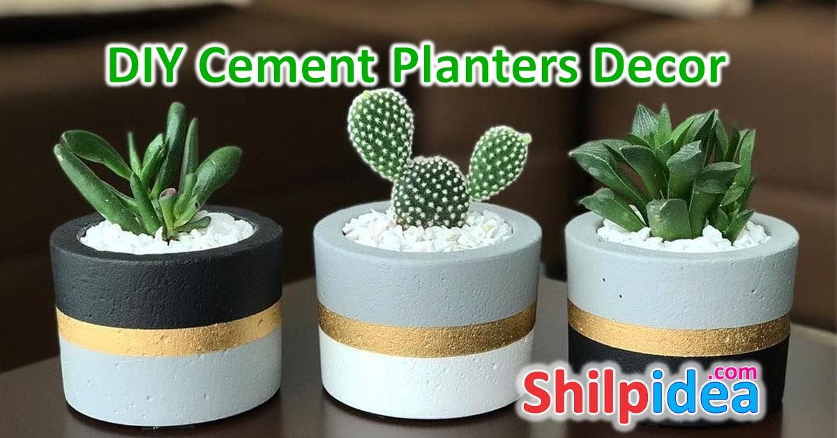 DIY Cement Planters for Home Decor