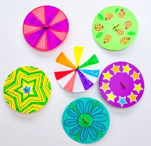 Paper Spinner Craft Activity for Kids