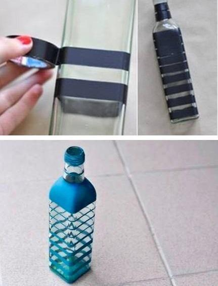 recycle-glass-bottle-using-adhesive-tape1-shilpidea