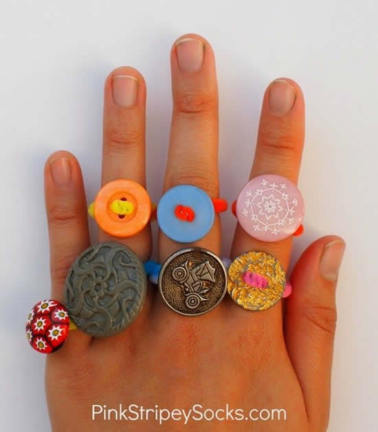 rings with buttons