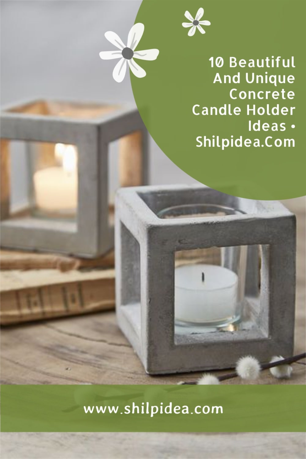 cement-candle-holder