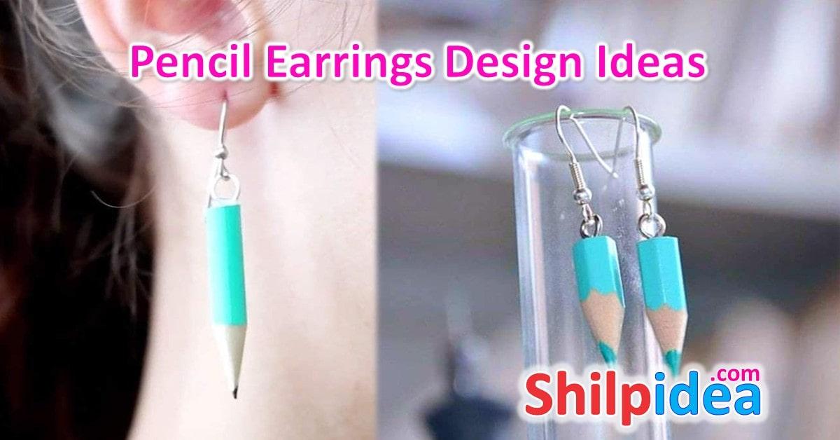 pencil-earrings-design-ideas-shilpidea