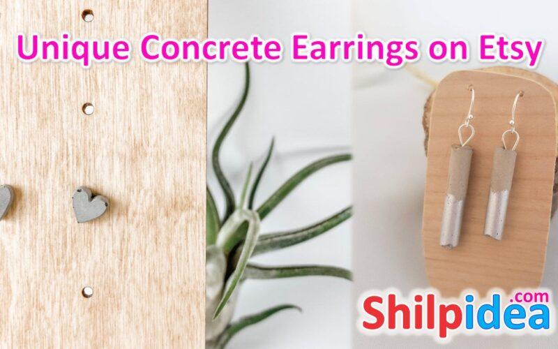 unique-concrete-earrings-ideas-etsy-shilpidea